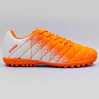 Сороконожки обувь футбольная 180604-2 R.ORANGE/WHITE размер 40-45 оранжевый-белый