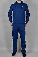 Спортивный костюм Пума, мужской костюм Puma, синий, трикотажный