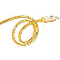 Кабель Hoco Metal Jelly Knitted Lightning UPL12 Gold (1.2m)