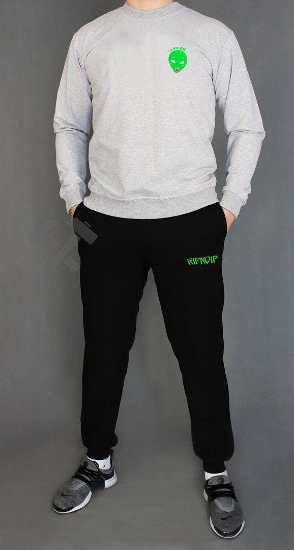 Спортивний костюм Ріп Єп Діп, чоловічий костюм Rip n Dip чорний, трикотажний