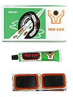 Латки для ремонта камер + клей RS2401прямоугольные латки 24шт (40х23мм) велоаптечка