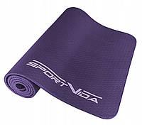 Коврик, мат для йоги и фитнеса текстурированный SportVida Nbr 1 см SV-HK0071 Violet - 227198