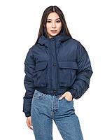 Короткая весенняя куртка женская «Арли» (Черная, синяя, салатовая, бежевая   42-44)