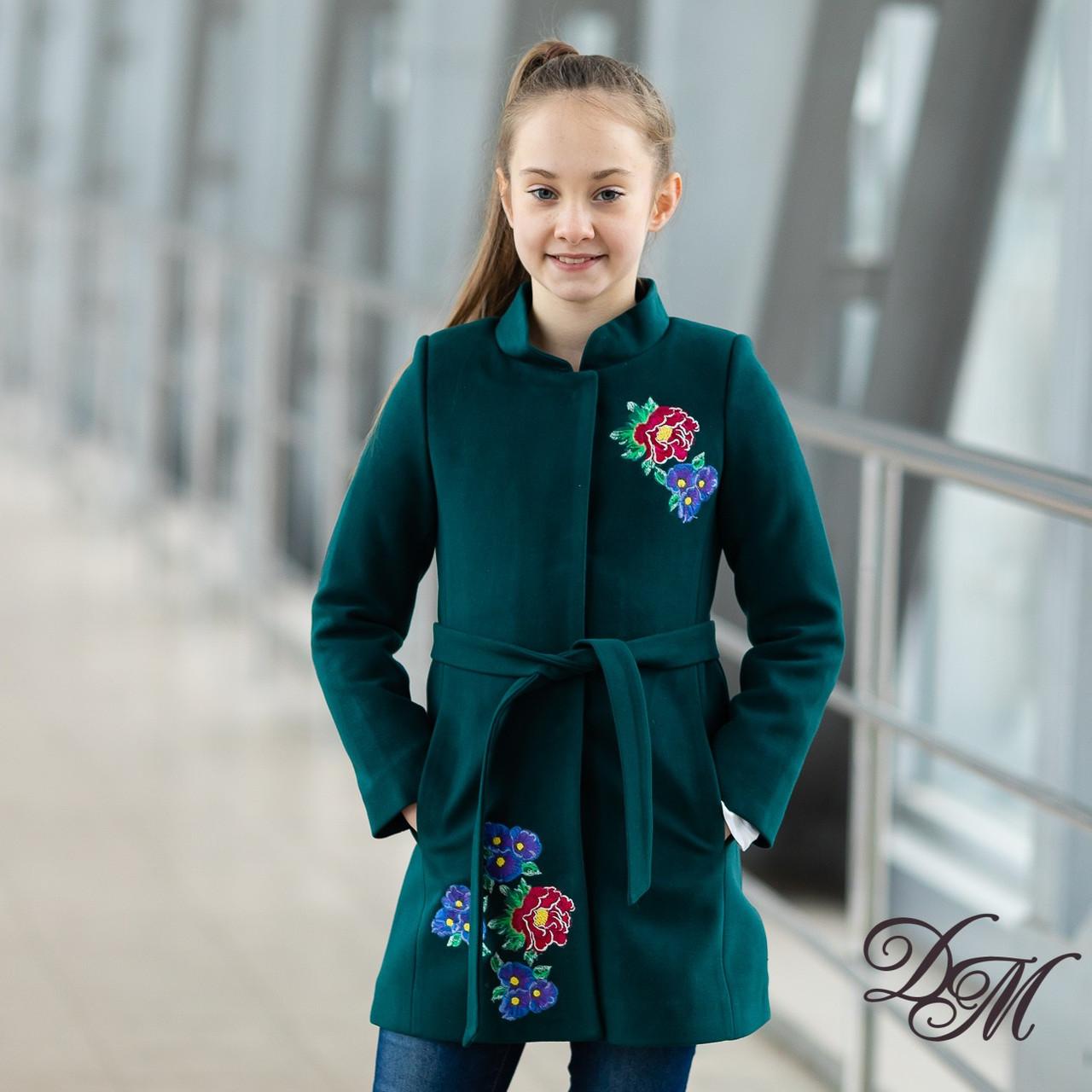"Кашемірове пальто ""Кашемір"" для дівчаток, розміри на ріст 128-146"