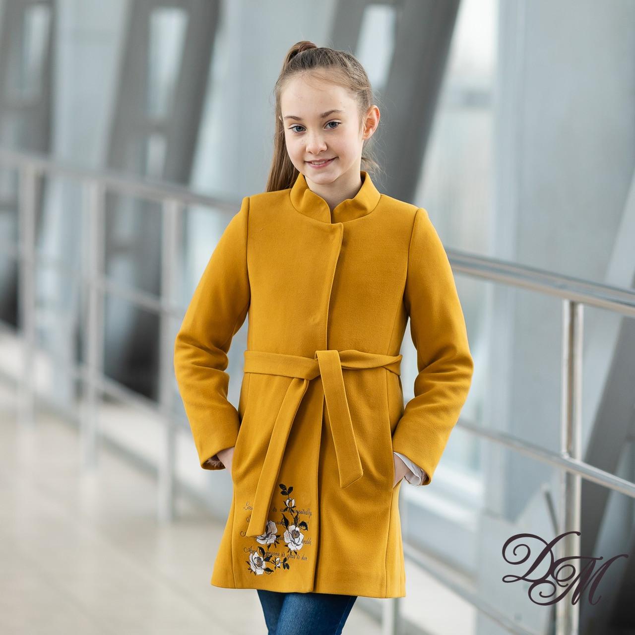 """Кашемировое пальто """"Кашемир"""" для девочек, размеры на рост 128-146"""