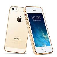 Чехол-накладка Hoco TPU case Light series with Finger Holder iPhone 5/5S Gold