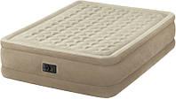 Надувная велюровая кровать Intex 64428 (64458),203-152-46,с электро-насосом