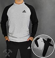 Спортивный костюм Адидас, мужской костюм Adidas черный, трикотажный
