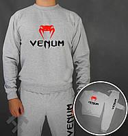 Спортивный костюм Венум, мужской костюм Venum серый, трикотажный