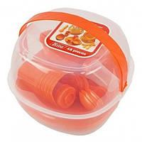 Набор пластиковой посуды и приборов для пикника на 6 персон ,48 предметов