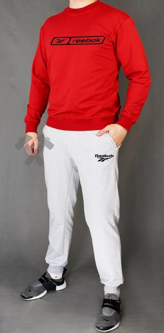 Спортивный костюм Рибок, мужской костюм Reebok красный, трикотажный