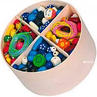 Viga Toys Набор бусинок Деревянные бусинки (56002)
