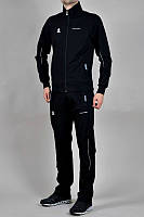 Спортивный костюм Адидас, мужской костюм Adidas, черный костюм с лампасами, трикотажный