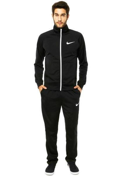 Спортивный костюм Найк, мужской костюм Nike черный на молнии, трикотажный