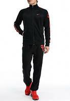 Спортивный костюм Найк, мужской костюм Nike, черный, трикотажный