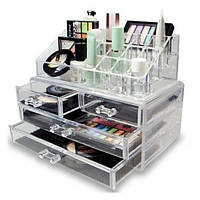 Бокс органайзер для косметики Cosmetic storage box Original Прозрачный JN-870