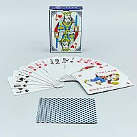 Игральные карты с ламинированным покрытием 9899 (колода в 54 листа, толщина-0,3мм)
