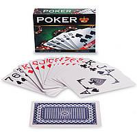 Игральные карты пластиковые IG-292 POKER (колода в 54 листа, толщина-0,28мм)