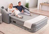 Надувная кровать со спинкой Bestway 67620 размер 233 х 196 х 80 см, двухспальная.