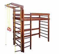 Спортивная кровать чердак для детей затонированная