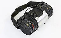 Моторюкзак-пояс с металлической защитной накладкой AO SI MAN NI T9909 (PL, PU, алюм, 34х19х19см, черн)