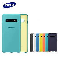 Оригинальный силиконовый чехол для Samsung Galaxy S10
