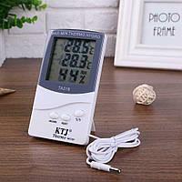 Гигрометр термометр с выносным датчикомтемпературы Elmir TA 318, фото 1