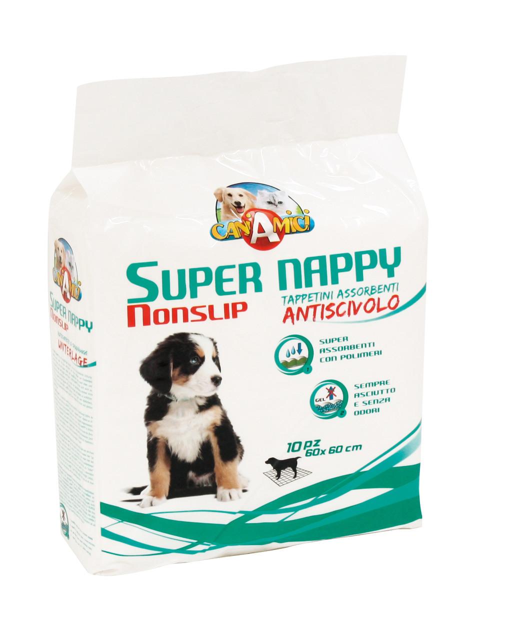 Одноразовые пеленки Croci Super nappy. Для собак 60*60 см антискользящие (10шт/уп)