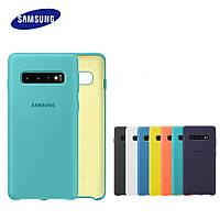 Оригинальный силиконовый чехол для Samsung Galaxy S10 Plus
