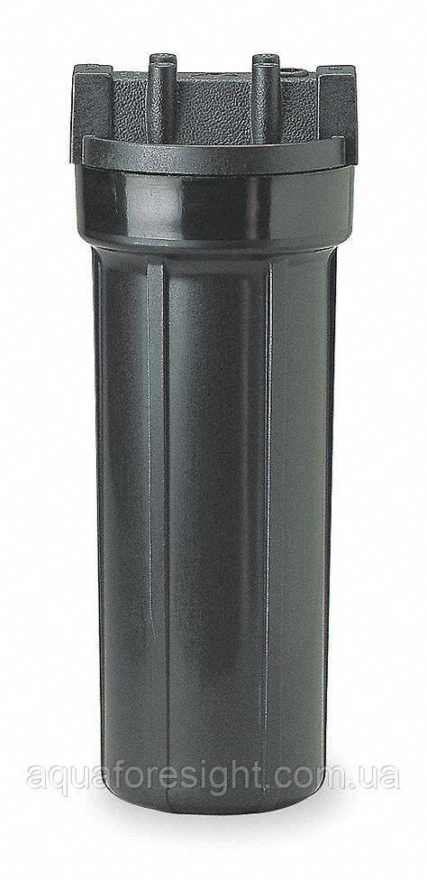 """Колба черная Pentek 1/2"""" 10 дюймов Slim (для горячей воды)"""