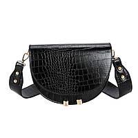 Женская сумка-мессенджер черная код 3-452
