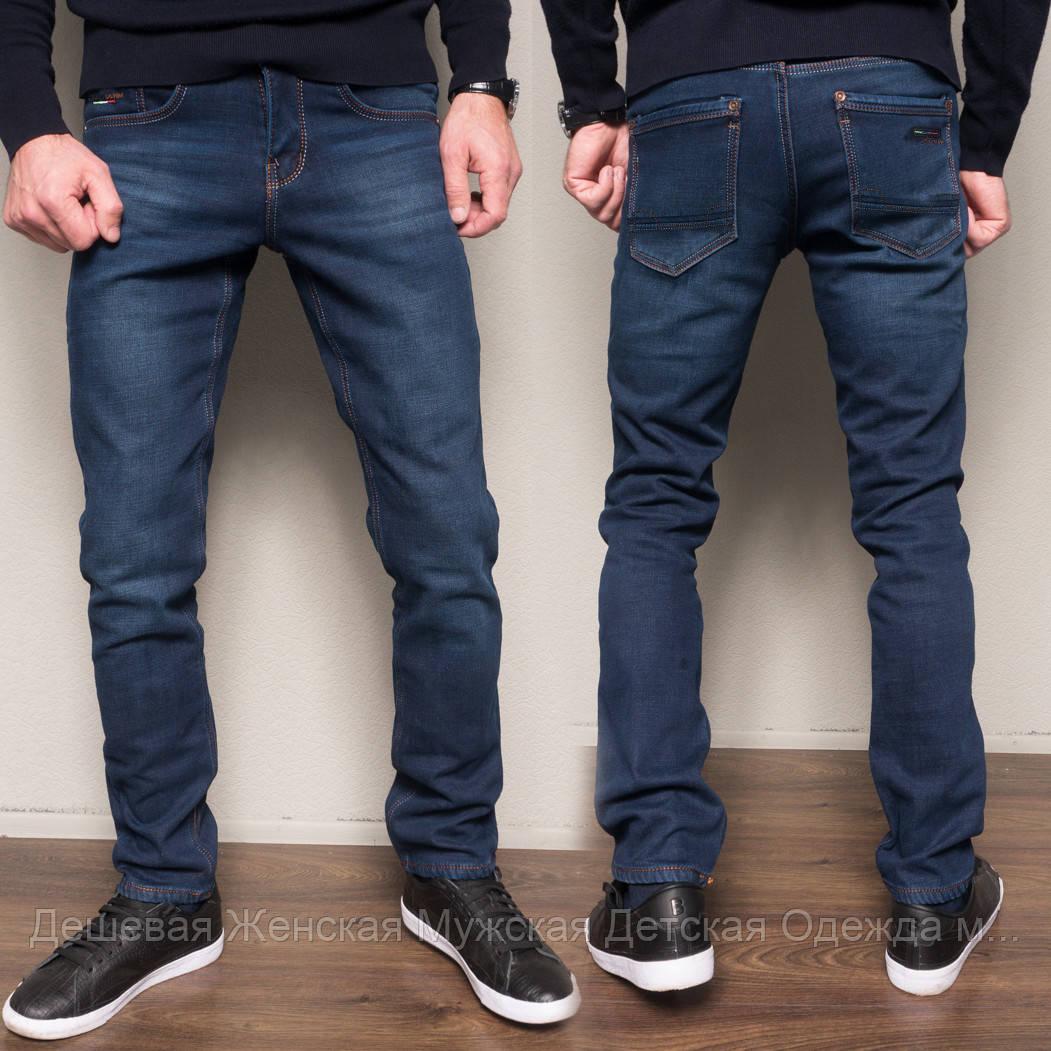 2104 Dsouaviet джинси чоловічі сині на флісі зимові стрейчеві (29-38, 8 од.)