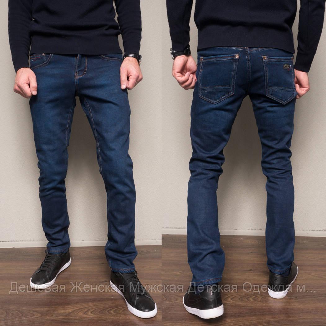 2103 Dsouaviet джинсы мужские синие на флисе зимние стрейчевые (29-38, 8 ед.)