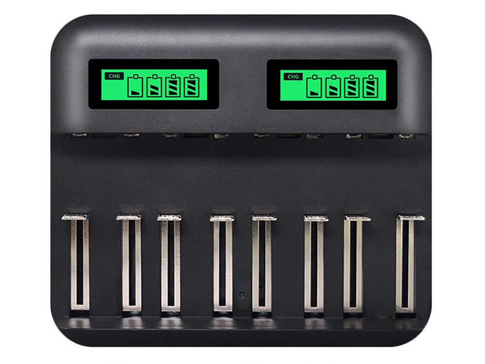 Зарядное устройство на 8 слотов для Ni-Mg Ni-Cd аккумуляторов типов AA AAA SC C D