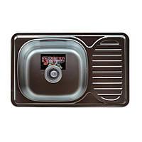 Кухонная мойка Platinum 6642 0,8 мм 660*420*180 декор