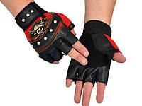 Вело-мото перчатки Пираты Карибского Моря мужские  Красный