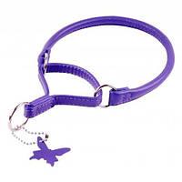 Ошейник - удавка COLLAR GLAMOUR круглый, ширина 8мм, длина 40см фиолетовый 75499