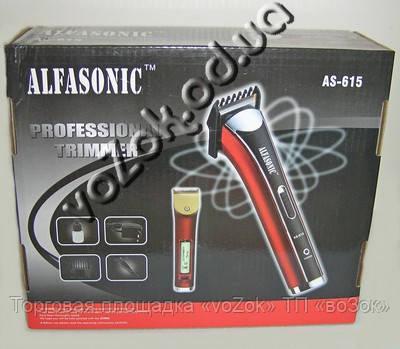 Триммер на аккумуляторной батарее Professional Trimmer Alfasonic AS-615 для стрижки бород и волос