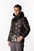Детская демисезонная куртка Den для мальчиков Хаки/черный (146-158 см) на весна-осень