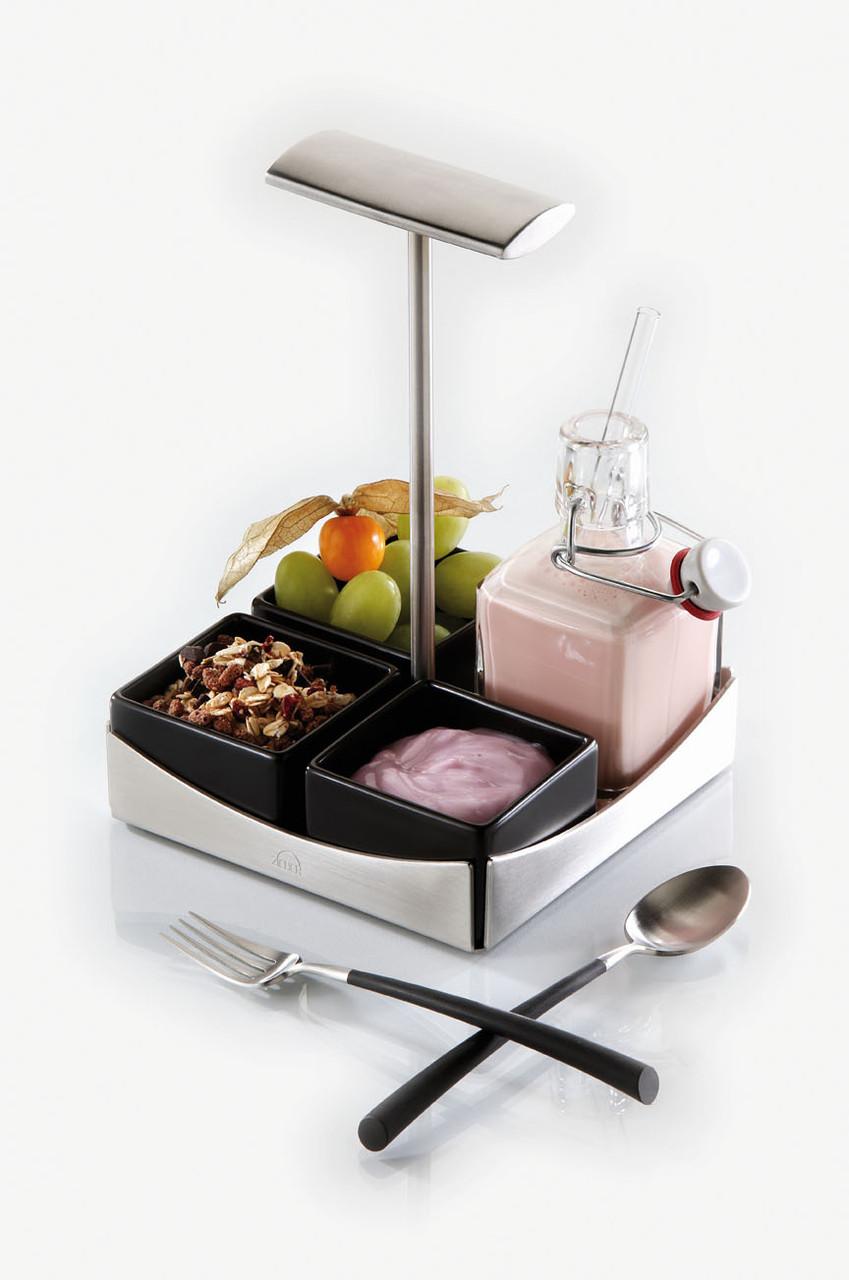 Б/у Подставка из нержавеющей стали Zieher 11,4x11,4см, сервировка стола, предметы сервировки