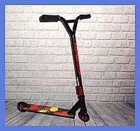 Самокат трюковой Scooter красный, фото 1