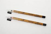Карандаш для век и бровей с расческой FFLEUR Eyebrow Pencil, цвет черный ES7616  ABD  08-6