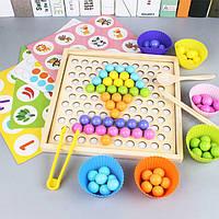 Деревянная игрушка Мозаика-МЕМО «Цветные шарики», развивающие товары для детей.
