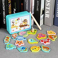 Деревянная игрушка Игра рыбалка «Улов», развивающие товары для детей.