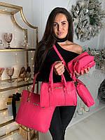 Женская сумка 6в1 экокожа розовый