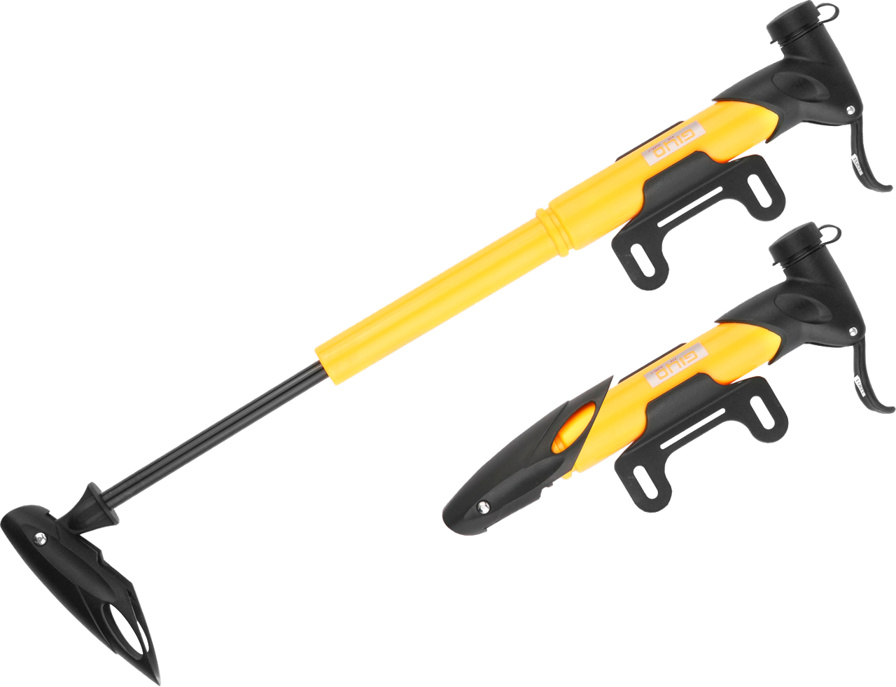Насос міні GIYO GP-77 Pl AV/FV (80psi) T-ручка (жовтий)