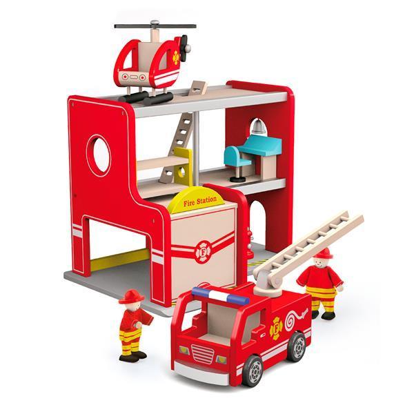 """Игровой набор Viga Toys """"Пожарная станция"""" (50828)"""