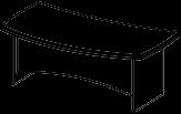 Стол руководителя Альянс 21\102 (1800х1065х760)