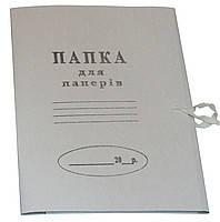 Папка на завязках картонная