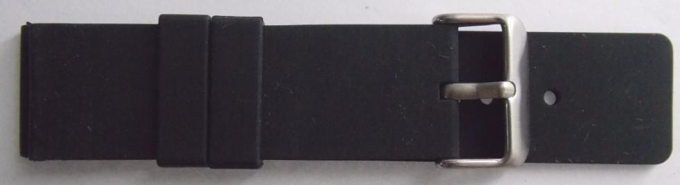 Ремешок каучук (Польша) 24 мм. Черный